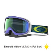 Oakley Elevate Womens Goggles 2014, Dusk Plume-Emerald Iridium, medium