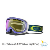 Oakley Elevate Womens Goggles 2014, Dusk Plume-H.i. Yellow, medium