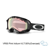 Oakley Splice Asian Fit Goggles 2013, Silver Factory Text-Vr50 Pink Iridium, medium