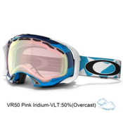 Oakley Splice Asian Fit Goggles 2013, Tech Plaid Blue-Vr50 Pink Iridium, medium