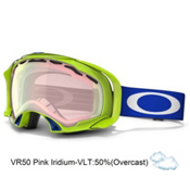 Oakley Splice Asian Fit Goggles 2013, Lightning Green-Vr50 Pink Iridium, medium