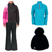 Spyder Temerity Jacket & Spyder Winner Athletic Pants Womens Outfit, , medium
