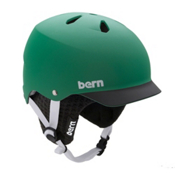 Bern Watts Knit Hard Hat, Matte Green-Black Brim-Black, medium