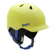 Bern Watts Knit Hard Hat, Matte Neon Yellow W-Black Knit, medium