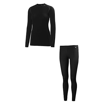 Helly Hansen Warm Freeze 1/2 Zip Womens Long Underwear Top & Helly Hansen Warm Long Underwear Bottom Womens Baselayer Outfit, , large