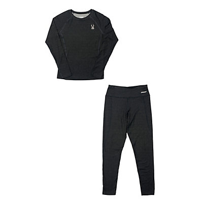 Spyder Athlete T-Hot Wool Long Underwear Top & Spyder Athlete T-Hot Wool Long Underwear Bottom Womens Baselayer Outfit, , large