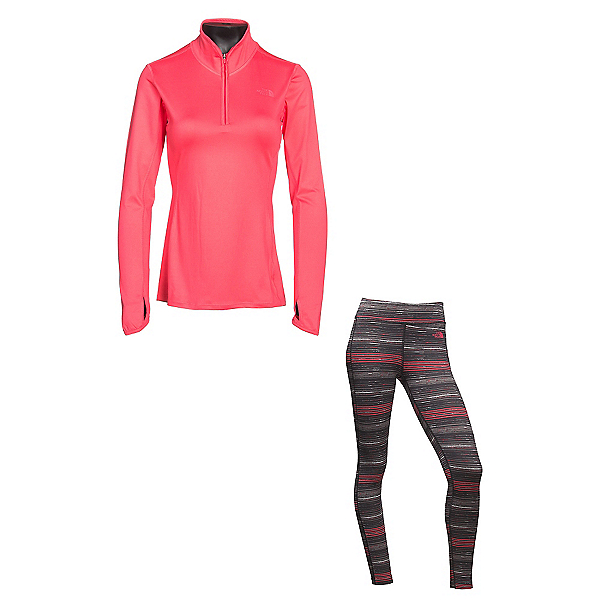 The North Face Motivational 1/4 Zip Jacket & The North Face Pulse Tight Pants Womens Outfit, , 600