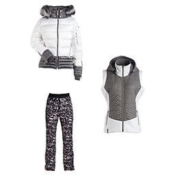 Nils Liv Real Fur Jacket & Nils Sienna Print Pants Womens Outfit, , 256