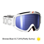POC Iris X Small Goggles 2013, White-Bronze Blue Mirror, medium