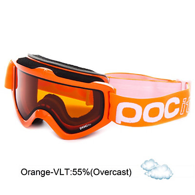 POC POCito Iris Kids Goggles, Flourescent Orange-Orange, viewer