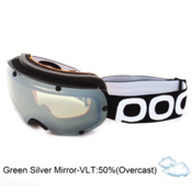 POC Lobes Goggles 2013, Black-Green Silver Mirror, medium