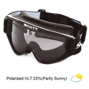 Scott Heli Polarized OTG Goggles 2013, Black-Polarized, medium