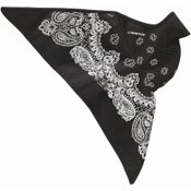 Seirus Softshell Combodana Paisley Bandana, Black-White, medium