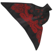 Seirus Softshell Combodana Paisley Bandana, Black-Red, medium