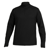 Karbon Fahrenheit Fleece Pullover Mens Mid Layer, Black, medium