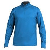 Karbon Fahrenheit Fleece Pullover Mens Mid Layer, Glacier Blue, medium
