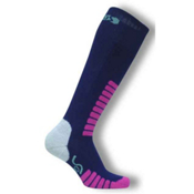 Euro Sock Supreme Girls Ski Socks, Navy, medium
