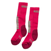 Euro Sock Supreme Girls Ski Socks, Hot Pink, medium
