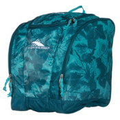 High Sierra Trapezoid Ski Boot Bag, Flora-Lagoon-Tropic Teal, medium
