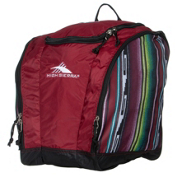 High Sierra Trapezoid Ski Boot Bag, Winter Serape-Brick-Black, medium