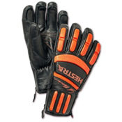Hestra Seth Morrison Pro Gloves, Black-Flame Red, medium