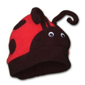 Mental Lady Bug Kids Hat, Red, medium