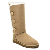 UGG Australia Bailey Button Triplet Womens Boots, Sand, medium