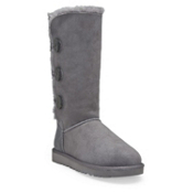 UGG Australia Bailey Button Triplet Womens Boots, Grey, medium
