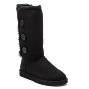 UGG Australia Bailey Button Triplet Womens Boots, Black, medium