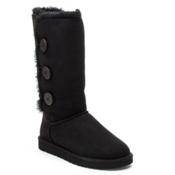 UGG Bailey Button Triplet Womens Boots, Black, medium