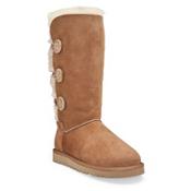 UGG Bailey Button Triplet Womens Boots, Chestnut, medium