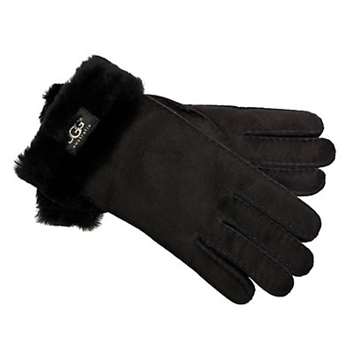 UGG Turn Cuff Womens Gloves, Black, viewer