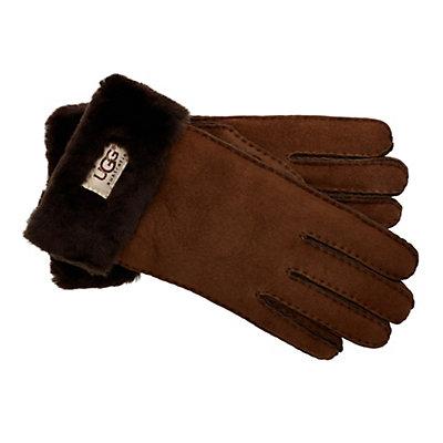 UGG Turn Cuff Womens Gloves, Black, viewer