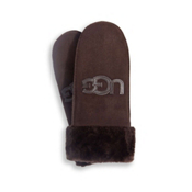 UGG Australia Logo Mittens Womens Gloves, Chocolate, medium