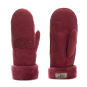 UGG Australia Logo Mittens Womens Gloves, Sangria, medium