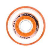 Labeda Gripper Millenium Soft Inline Hockey Skate Wheels - 4 Pack, Clear-Orange, medium
