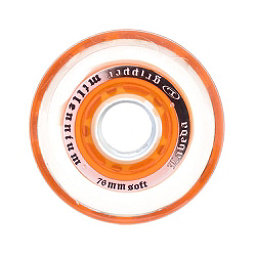 Labeda Gripper Millenium Soft Inline Hockey Skate Wheels - 4 Pack, Clear-Orange, 256