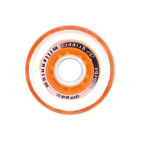 Labeda Gripper Millenium Soft Inline Hockey Skate Wheels - 4 Pack, Clear-Orange, 600