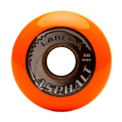 Labeda Gripper Asphalt Hard Inline Hockey Skate Wheels - 4 Pack, Orange-Black, medium