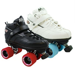 Rock GT-50 Fugitive Boys Speed Roller Skates, Black, 256