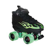 Rock Lime Swirl Speed Roller Skates 2013, Black-Lime Flames, medium