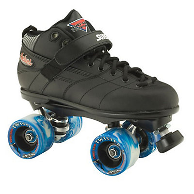 Sure Grip International Rebel Twister Boys Speed Roller Skates, Black, viewer