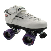 Sure Grip International Rebel Twister Boys Speed Roller Skates, White, medium