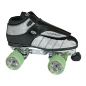 Labeda G-80 XK4 Doubler Power Plus Silver Boys Speed Roller Skates, Silver, medium