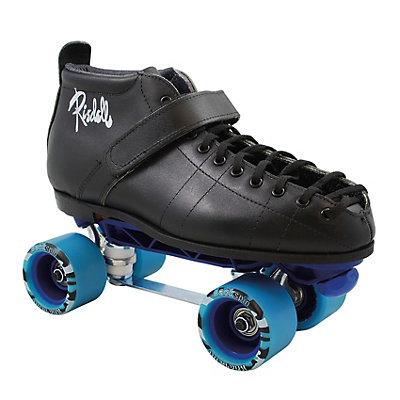 Riedell 126 Sunlite Blue Print Derby Roller Skates, , large