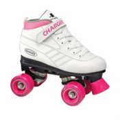 Pacer Charger Girls Speed Roller Skates 2013, White-Pink, medium