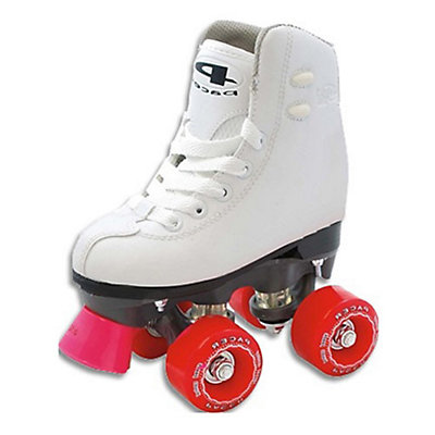 Pacer Madrid Junior Girls Artistic Roller Skates, White, large