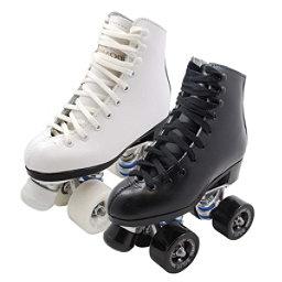 Dominion 719 Junior Pro Medallion Plus Girls Artistic Roller Skates, White, 256
