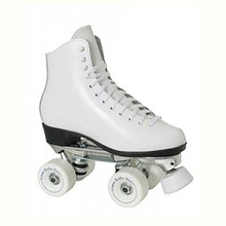 Dominion 719 Super X Medallion Plus Girls Artistic Roller Skates, White, 256