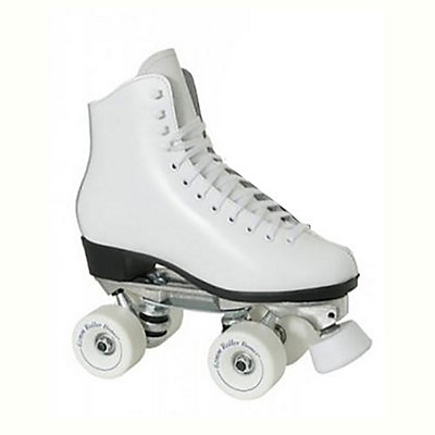 Dominion 719 Super X Medallion Plus Girls Artistic Roller Skates, White, viewer